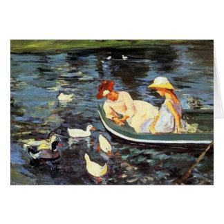 Verano de Mary Cassatt Tarjetas