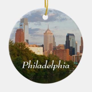 Verano de Philly Adorno Redondo De Cerámica