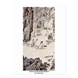 Verano debajo de Bannanenpalmen de Ch'Iu Ying Tarjetas Postales