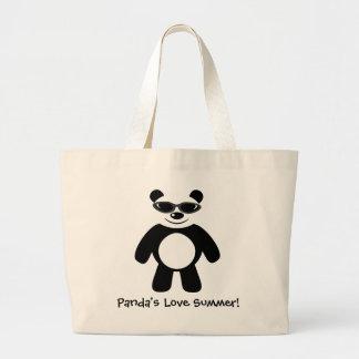 ¡Verano del amor de la panda! Bolsa Tela Grande