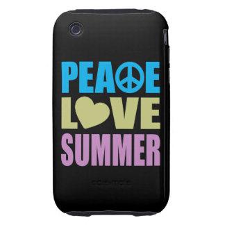 Verano del amor de la paz carcasa resistente para iPhone