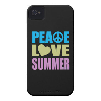 Verano del amor de la paz iPhone 4 Case-Mate coberturas