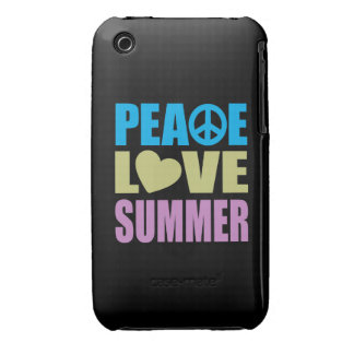Verano del amor de la paz iPhone 3 Case-Mate fundas