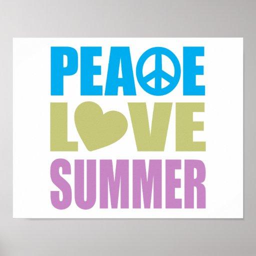 Verano del amor de la paz póster