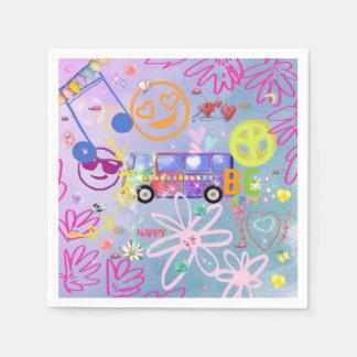 verano del amor - los años 60 servilletas de papel