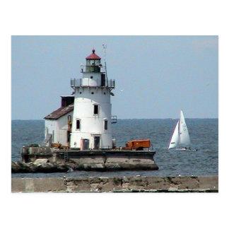 Verano del faro del lago Erie Postal