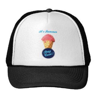 Verano del helado gorras de camionero