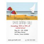 Verano del océano de la playa tarjeta publicitaria