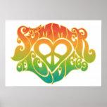 Verano del poster del amor