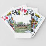 Verano del puente cubierto baraja cartas de poker