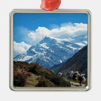 Verano del viaje de Himalaya el monte Everest la Adorno Navideño Cuadrado De Metal