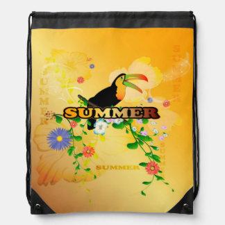 Verano, diseño tropical mochilas
