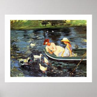 Verano dos de Mary Cassatt Póster