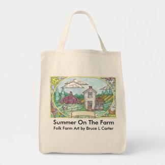 Verano en el bolso de la granja bolsas de mano