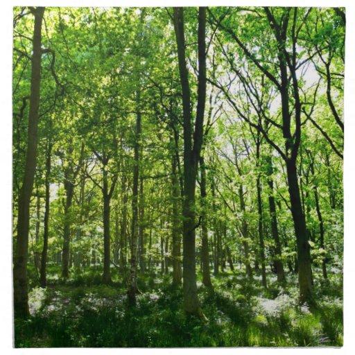 Verano en el bosque servilleta de papel