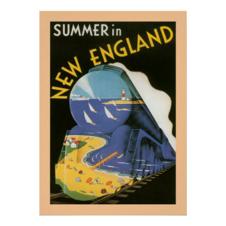 Verano en el poster de Nueva Inglaterra