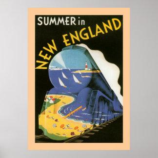 Verano en el poster de Nueva Inglaterra Póster