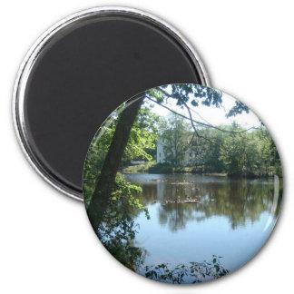 Verano en el río imán redondo 5 cm