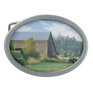 Verano en la granja hebilla cinturón oval