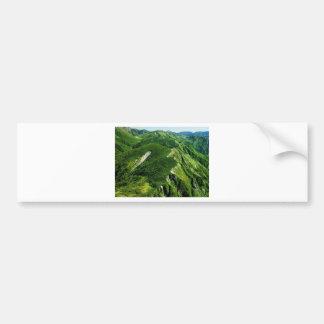 Verano en las montañas etiqueta de parachoque