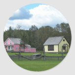 Verano en Maine Etiquetas Redondas