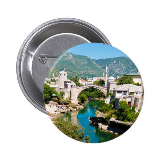 Verano en Mostar Pin Redondo De 2 Pulgadas