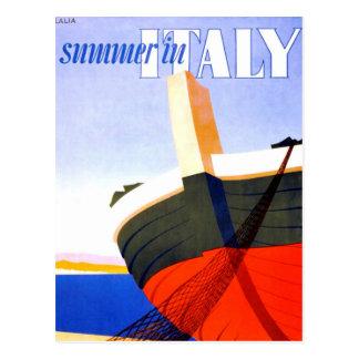 Verano en viaje del vintage de Italia Postal