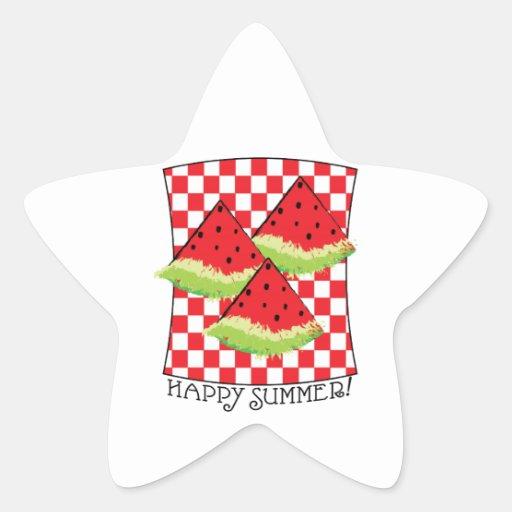¡Verano feliz! Colcomanias Forma De Estrellaes