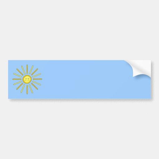 Verano feliz Sun. Amarillo y azul Pegatina Para Auto