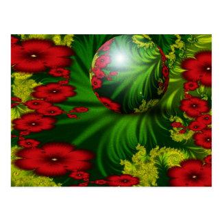 Verano floral tarjetas postales