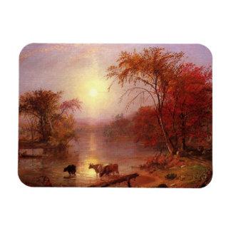 Verano indio el río Hudson por Bierstadt Iman De Vinilo