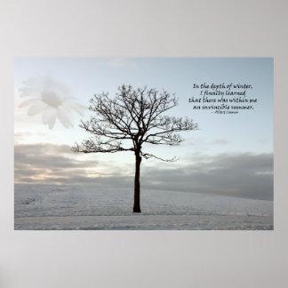 Verano invencible - luz en el invierno oscuro posters