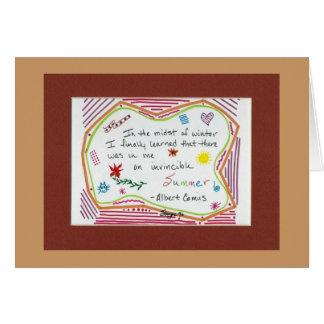 Verano invencible tarjeta de felicitación
