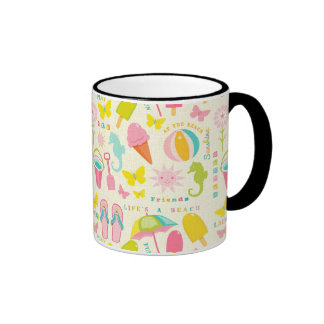Verano lindo taza de dos colores