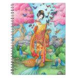 Verano Maiko, cuaderno del personalizado del arte