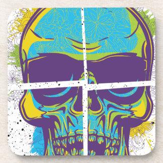 Verano muerto del fiesta de Wellcoda del cráneo Posavasos