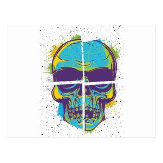 Verano muerto del fiesta de Wellcoda del cráneo Postales