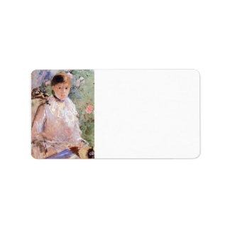 Verano (mujer joven en la ventana) por Morisot Etiquetas De Dirección