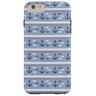Verano náutico azul funda para iPhone 6 plus tough