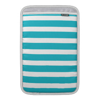 Verano náutico de la turquesa y de la raya blanca fundas MacBook