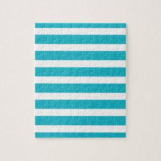 Verano náutico de la turquesa y de la raya blanca puzzle