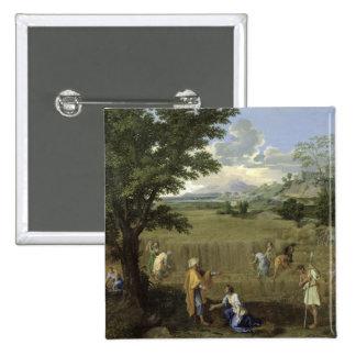 Verano, o Ruth y Boaz, 1660-64 Pin Cuadrado