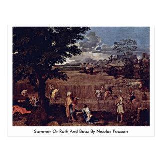 Verano o Ruth y Boaz de Nicolás Poussin Tarjetas Postales