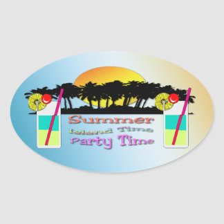 Verano - pegatina del tiempo del fiesta