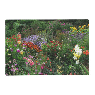 Verano Placemat laminado jardín de flores Salvamanteles