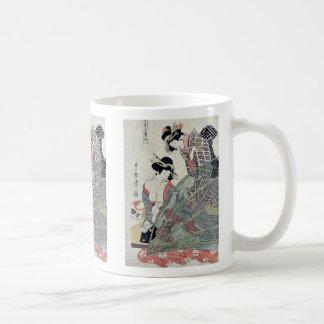 Verano por Utamaro II, D. Ukiyoe Taza