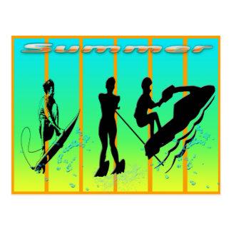 Verano - postal de los deportes acuáticos