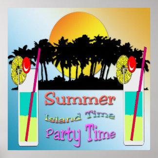 Verano - poster del tiempo del fiesta