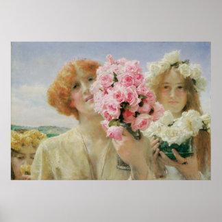Verano que ofrece, Alma Tadema, romanticismo del Poster
