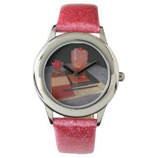Verano rosado - reloj del salón de cóctel del KB